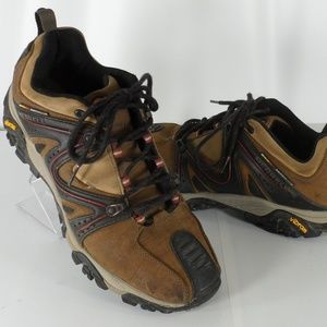 Merrell Reactor Leather Brown Tan Hiking Shoes